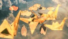 When I dream... (tralala.loordes) Tags: dream peacecranes origami clouds flight escape tralalaloordes