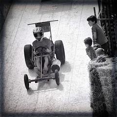 Big Fat Tires (Fouquier ॐ) Tags: racing soapbox helmet kids zeepkistenrace poldersezeepkistenrace