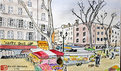 La France des Sous-Préfectures 13 (chando*) Tags: aquarelle watercolor croquis sketch france