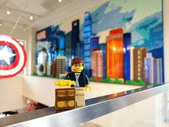 Travels of badger - Pudong Skyline at the LEGO Store in Disney Resort, Shanghai (enigmabadger) Tags: brickarms lego minifig fig figure toy plastic travel vacation china shanghai asia trip disney mickey theme park
