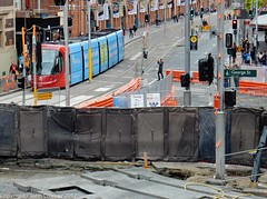 CBD & South East Light Rail - George and Hay Streets - Update 17 June 2017 (john cowper) Tags: cselr georgestreet haystreet haymarket sydneylightrail infrastructiure tracklaying track trackslab transportfornsw altrac acconia sydney newsouthwales
