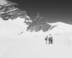 At Jungfraujoch (velodenz) Tags: fujifilm x100f fujifilmx100f fujiusers velodenz england united kingdom uk great britain gb digital image pic picture phot photo photograph photography monochrome holiday vacation vacances urlaub trip travel leisure switzerland schweiz svizzera rtc railway touring company mountain eiger munch jungfrau jungfraujoch aletsch glacier snow schnee beige black white acros simulation berner oberland swiss bernese region alps alpes junfgrau highlands views repostmyfuji repostmyfujifilm fuji alp lesalpes alpen alpi lasuisse svizra xseries 2000 2000views
