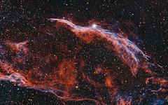 Veil nebula (MaGeOl) Tags: astrophotography monochrome filters narrowband veil nebula qhy sky night астрофотография вуаль туманность ночь звезды stars