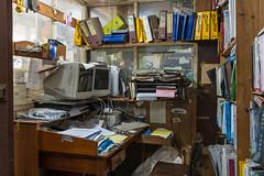 West Footscray (Westographer) Tags: westfootscray melbourne australia westernsuburbs suburbia office chaos mess desk paperwork oldschool workplace
