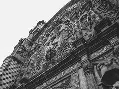 Fachada iglesia Conca Qro (SeñorNT) Tags: conca queretaro church architectonic clasical town mexican blackandwhite