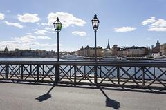 Stockholm (Lucie Maru) Tags: stockholm europe city toen urban bridge streetlight railing