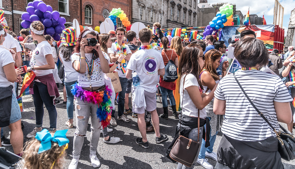 LGBTQ+ PRIDE PARADE 2017 [STEPHENS GREEN BEFORE THE ACTUAL PARADE]-129924
