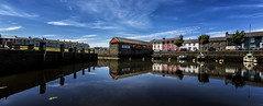 Aberaeron (por agustinruizmorilla) Tags: sky lake city sea sunset water reflection river beach travel blue night sun clouds house ocean architecture bridge summer building beautiful pier canal outdoors daylight wales no person pais de gales agustinruizmorilla
