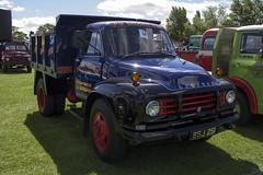 1960 Bedford J-Type tipper lorry (Peter Storr) Tags: fire engine vintage vehicle show preston park farm 1960 bedford jtype tipper lorry blue
