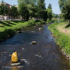 Goldstadt Pforzheim (Floramon) Tags: stein goldenerstein goldenstone enz wasser water flüsschen river ufer riverside stone pforzheim goldstadtpforzheim