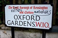 Anger - DSCF4008a (normko) Tags: london west grenfell tower tragedy fire blaze deaths royal borough kensington w10 graffiti rotten murderers marker dissent