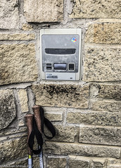 """mmmmm, a Super Nintendo Entertainment System...part of """"a wall"""".  Along the way, somewhere between East Wallhouses and Hendon-on-the-Wall (UK) (mishlove1) Tags: britian cumbria england greatbritian hadrians hadrianswall hadrianswallwalk hike hikehiking hiking northofengland omdem10ii olympus travel uk vacation iphone"""
