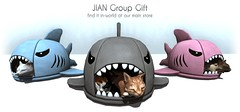 New JIAN Group Gift :: Kitty Shark Beds ([JIAN]) Tags: groupgift secondlife mesh kitty kittens bed sleeping animal pet cute jian