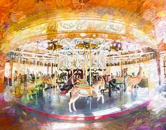 1913 Herschell-Spillman Carousel at Greenfield Village (Podsville) Tags: olympus9mmbodycapfisheye summer topazimpression june greenfieldvillage dearborn michigan
