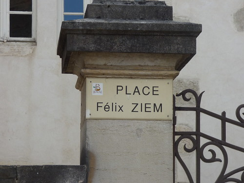 Place Félix Ziem, Beaune - road sign