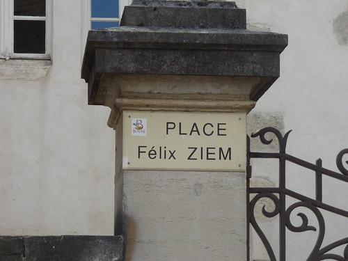 Place Félix Ziem, Beaune - road sign