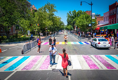 2017.06.10 Painting of #DCRainbowCrosswalks Washington, DC USA 6424