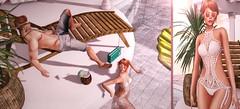 ♚ 347 ♚ (Luxury Dolls) Tags: pool party selfie belleposes pose chair drink radio no summer tropical summerfest summerfest2017 bikini crochet tableauvivant tableauvivantsl hf2017 hair hairfair amala sunglasses partnership