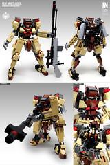 NESF-M08TS Jackal (Messymaru) Tags: lego moc mech mecha robot レゴ レゴロボ メカ mechwars reframe original messymaru