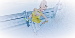 Crap Sand in My Shoes ! (Sparkle Mocha) Tags: exile applemay cynful lazuri aphrodite ison yellow thorn sunglasses thornedflower we 3 roleplay we3roleplay secondlife second life avatar updo blonde sweatpants drawstring heels mojito catya catwa maitreya mesh