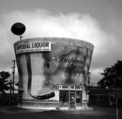 Imperial (Nickademus42) Tags: voitlander perkio 120 film black white photography project fpp fuji neopan liquor store kentucky lexington voigtlander