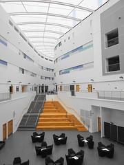 Robert Gordon University on a Sunday (Ian Robin Jackson) Tags: university aberdeen scotland robertgordonuniversity building lines modern sony zeiss colours roof steps