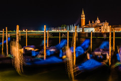 Gondolas at Night (JSP92) Tags: religion 2017 weather outdoor italy venice vacation background holiday atmosphere