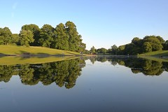 Sefton Reflection (Phillip Marshall) Tags: sefton park lake mirror reflection liverpool evening sky blue trees water
