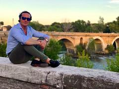 Lungo la riva del fiume..... (ioriogiovanni10) Tags: fiumetevere panorama leica lumix canon serata luglio città tramonto nikon iphone rome tevere fiume pontemilvio river roma