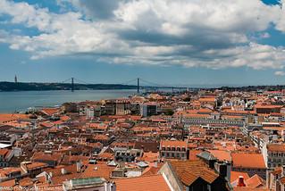 Blick über Lissabon aufgenommen vom Castello de S. Jorge - View over Lisbon photographed from  Castelo de S. Jorge
