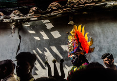Backstage series   Mayana Kollai,Bhuvanagiri,Chidambaram. (Vijayaraj PS) Tags: india asia nikond3200 streetphotography indianstreetphotography street indianculture tamilnadu angalamman mayanakollai light shadows tradition makeover backstage village 35mm