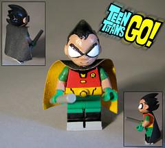 Robin-Teen Titans GO-Lego Custom (-iacopo / Minifigures / Custom-) Tags: toy toys sculpt sculpey teen titans go dc comics robin raven cyborg beastboy starfire ustice league italy iacopo imc afol moc lego custom minifig supeheroes wonder woman batman superman minifigure custommade boywonder dick grayson