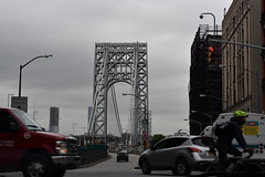 George Washington Bridge (thatSandygirl) Tags: cloudy gloomy bridge georgewashingtonbridge newyork bronx traffic cyclist city