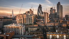 Tribute to London (Ludo_Jacobs) Tags: london view skyline gherkin shard city skyscraper morning sunrise light architecture europe greatbritain