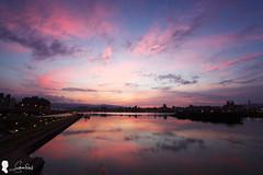 2017-07-14 台北日出晨彩 (Steven Weng) Tags: 台灣 台北 日出 忠孝碼頭 canon ef1740 taiwan taipei clouds sunrise sky 天空 倒影