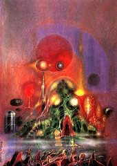 Richard M. Powers (1921-1996) cover, ''War of the Worlds'' by H.G. Wells, 1985 (ryanator14) Tags: richardmpowers hgwells waroftheworlds bookcovers coverart americanartist