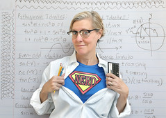 SuperNerd (YetAnotherLisa) Tags: superman nerd geek self selfportrait selfie superhero math trig trigonometry hp15c calculater supernerd supergeek
