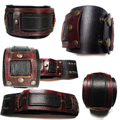 Leather Bracelet Balios (Xansa Leder) Tags: leder leather armband bracelet wristband handgemacht handarbeit handmade handwork handcrafted manschette