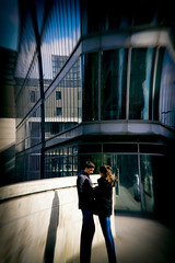 Modern Romance (Calinore) Tags: paris city ville xiiieme 13eme bnf couple amour love young people architecture