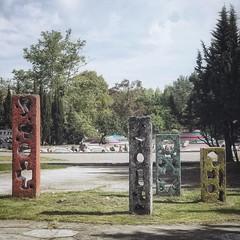 Children's Playground (e_islamov) Tags: geometry figure street sky urbanurbex cloudy cityscape decay abandoned abstract