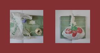 Wrapping Father`s Day Presents reusing plastic and paper bags Vatertag Geschenke einpacken wiederverwenden von Plastik und Papier Einkaufssackerln (Einkaufstüte) Lederleitner, Erntefrisch