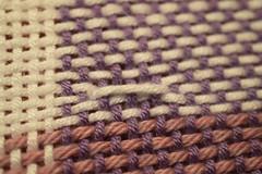 Broken Stitch (abbigail may) Tags: woven broken baby blanket white purple pink handmade