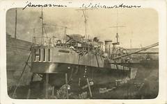 "HMAS ""Swordsman"" in dry dock at Williamstown, Melbourne, Vic - 1922 (Aussie~mobs) Tags: swordsman williamstown melbourne vintage victoria australia 1922 drydock ship destroyer navy australiannavy torpedoboatdestroyer"