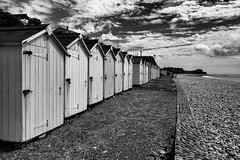 IMG_1448 (G_HOWDEN) Tags: beach huts budleigh monochrome