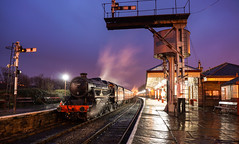 """Stanier Hues"" Black 5 45407 'The Lancashire Fusilier' (Liam60009) Tags: eastlancashirerailway elr steam steamlocomotive steamtrain 2017 spring gala steamgala steaming longexposure blue purple stanier black5 5mt 45407 thelancashirefusilier ramsbottom ramsbottomstation"