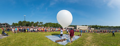 Albert F. Ford Middle School Weather Balloon Launch (Frank C. Grace (Trig Photography)) Tags: acushnet massachusetts unitedstates fordmiddleschool newengland school middleschool stratostar0145 stratostar weatherballoon science math weather prediction flight teaching teachers albertfford balloon nikon d810 frankcgrace trigphotography storytelling kids children schoolproject panorama
