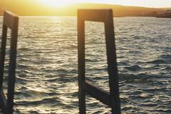 Dazzled (Therese Trinko) Tags: ireland aranislands irlanda europe europa viajar travel water sea ocean atlantic bay dive sunset