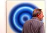 Hard to See (YIP2) Tags: exhibition gemeentmuseum schiedam blue circle people eyeattack watcher candid wojciechfangor museum art modernart opart kineticart