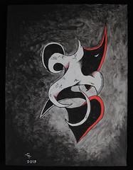 Sonríe / Smile (José Galdames C) Tags: sonrisa smile paint ghost fantasma pintura surrealismo tempera pencil lp lápiz surrealism soberbia artwork artist artista arte amazing drawing draw dibujo dibujar