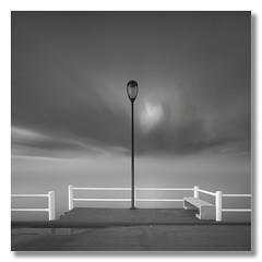 Don't walk away... Let me enjoy your stay. (João Cruz Santos) Tags: seascape waterscape pier longexposure blackandwhite bw alcochete portugal sel1018 minimalist